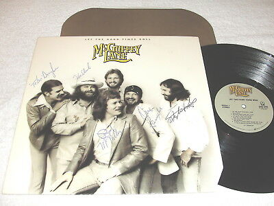 """McGuffey Lane """"Let The Hard Times Roll"""" 1982 LP,NM!,SIGNED COVER Tebes Douglass"""