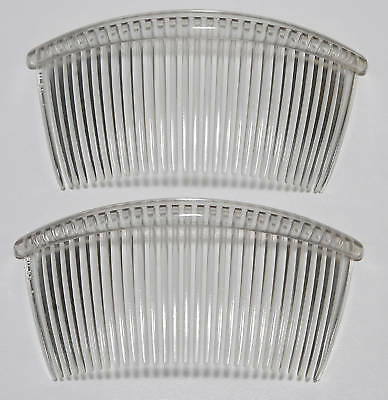 Vintage Large Tilco Clear Hair Comb Pair Accessorie