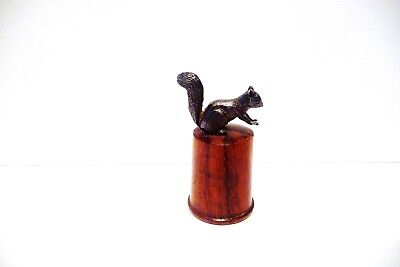 Thimble Guild Woodland Collection Solid Silver Red Squirrel On Wood John Urwin