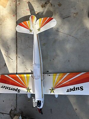 Great Planes ? Super Sportster RC Plane Kit Assembled With OS Engine Nice Shape