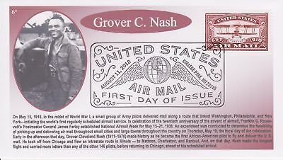 6° Cachets 5282 U. S. Airmail 2018 Red Stamp African American Grover C. Nash