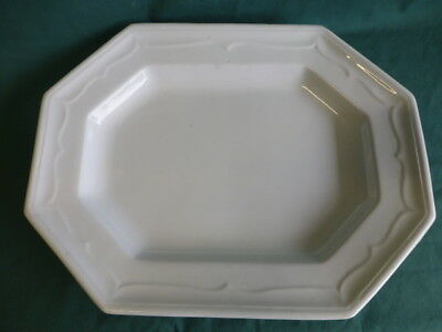 Antique T & R Boote White Ironstone Octagon Pattern Platter