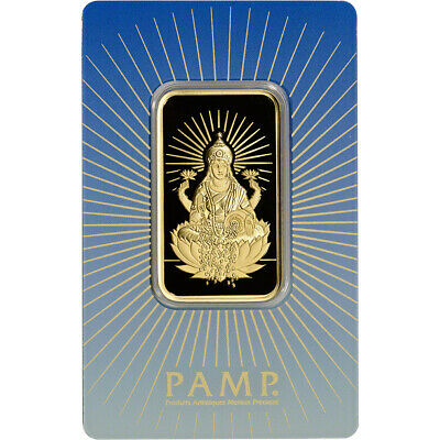 1 oz. Gold Bar - PAMP Suisse - Lakshmi - 999.9 Fine in Assay