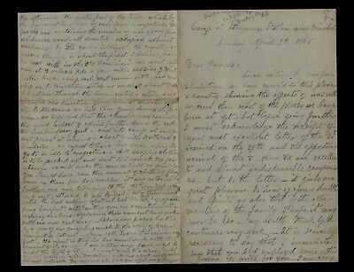 195th Pennsylvania Infantry CIVIL WAR LETTER - Great Content at Winchester, VA !