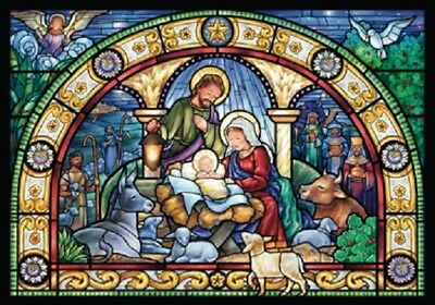 """Stained Glass Holy Night ""Advent Calendar"