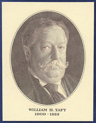 VINTAGE AMERICAN BANK NOTE Co. ENGRAVING: PRESIDENT WILLIAM H. TAFT (125)