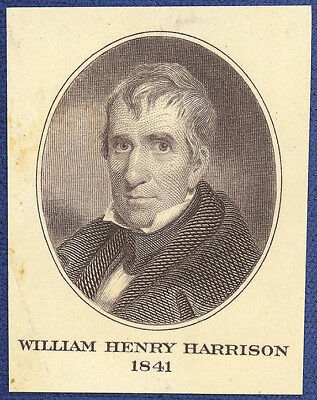 VINTAGE AMERICAN BANK NOTE Co. ENGRAVING: PRESIDENT WILLIAM H. HARRISON (125)