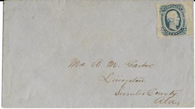 CSA Cover to Mrs A.M. Garber in Livingston, Ala with CS #12 Stamp