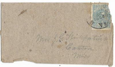 CSA Cover Richmond to Mrs J.G. Kirkpatrik in Canton, Miss with CS #2, ? 21, 1862