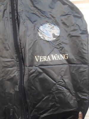 Vera Wang WEDDING Garment Bag DRESS Coat black hanging Storage Bag vinyl Zipper