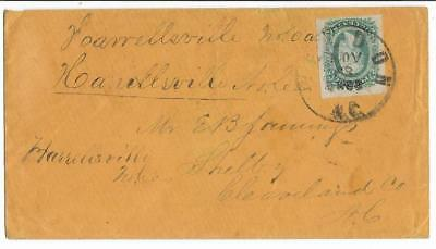 CSA Cover Weldon, NC to Mr E.B. Jennings in Shelby, NC with CS #11 CDS 11/28/63