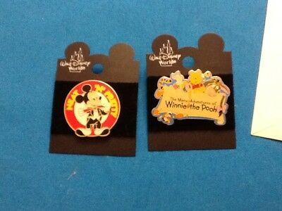 "Older Disney World Pins!  Winnie The Pooh Pin And Mickey. ""neat N Pretty"""