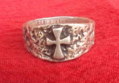 Retired James Avery Sterling Silver Ancient Byzantine Style Cross Ring Size 10