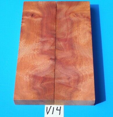 1 Pair Knife Scales Curly Camphor Burl~Knife Blank Grips~Exotic Wood Lumber