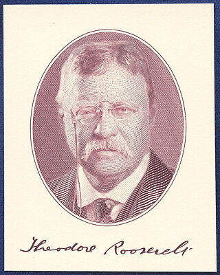 AMERICAN BANK NOTE Co. ENGRAVING: THEODORE ROOSEVELT (ROSE)