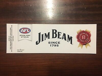 Jim Beam / AFL Footy Sticker - Large New!