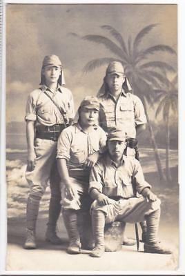 WWII Photo Imperial Japanese Army IJA Soldiers China AGFA ANSCO RPPC Post Card