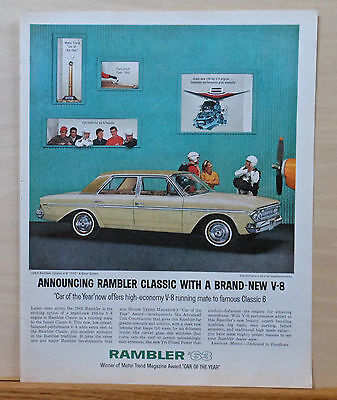 1963 magazine ad for Rambler - Classic V-8 Sedan w/ 770 engine - Car of the year