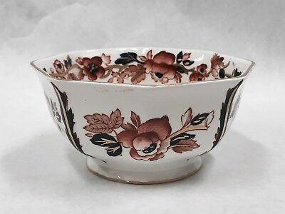 """Small Enoch Wedgewood Tunstall Ltd. Old Castle Bowl 4 1/2"""" x 2 1/4"""" floral china"""