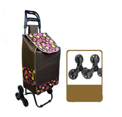 A208 Rugged Aluminium Luggage Trolley Hand Truck Folding Foldable Shopping Cart