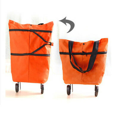 A86 Rugged Aluminium Luggage Trolley Hand Truck Folding Foldable Shopping Cart