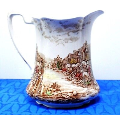 "Johnson Brothers Olde English Countryside 7 1/2"" 48 oz. Jug or Pitcher  EXC!"