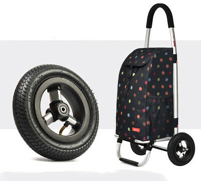 A94 Rugged Aluminium Luggage Trolley Hand Truck Folding Foldable Shopping Cart