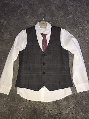 Boys Shirt, Waistcoat And Tie Set From Next. Age 8