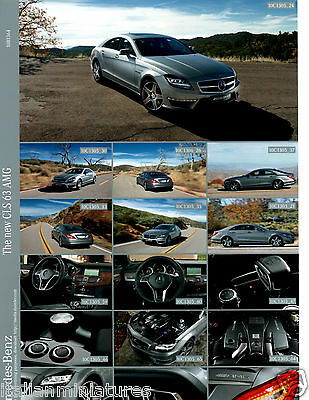 Mercedes Benz New CLS 63 AMG Photograph Sheet 2007 10B1364 Mint Condition 1st