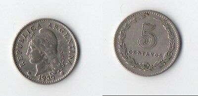 Argentina - 1958 -  5 Centavos - Nice Coin With Full Lustre.
