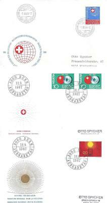 Switzerland 1966-91 8 Special Covers (3 scans)