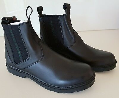 Bnib - Drovers - Unisex - Black Leather School Boots / Shoes - Size: 4 / Us 5
