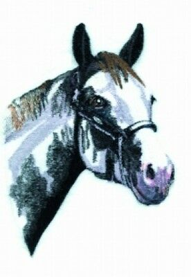Embroidered Long-Sleeved T-Shirt - Black & White Horse BT4453
