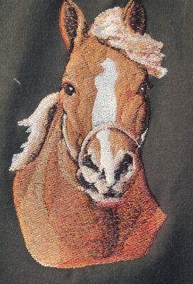 Embroidered Long-Sleeved T-Shirt - Draft Horse BT3728