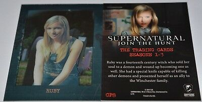 Supernatural Seasons 1-3 Shadowbox Chase Card CP8 Ruby