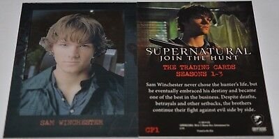 Supernatural Seasons 1-3 Shadowbox Chase Card CP1 Sam Winchester