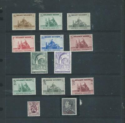 Belgium-lot 3 1937-8 selection of mint stamps, (UHM or LHM) CV £45+/- [1043]