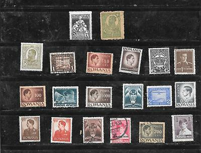 Romania Old Vintage 20 Different Stamp Collection Lot Set Packet Inc B.o.b
