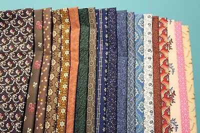 """/""""HOLLYHOCKS 1800/'s CIVIL WAR REPRODUCTION/"""" QUILT FABRIC FOR ANDOVER 7746-KL"""