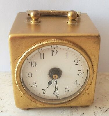 Carriage Alarm Clock Antique German Brass 2 Way Winder Spares Repairs