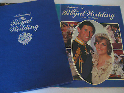 The Royal Wedding Large Hardback 190 pages Charles & Diana 1981 ~ ruemiraldi