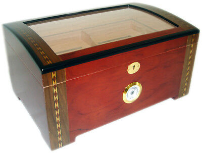 NO RESERVE 200 ct TOP Display DOME CIGAR HUMIDOR - THE MONARCH REFURBISHED