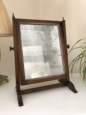 Lovely Antique Georgian Swing Mirror With Inlay Detail