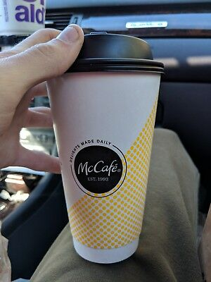 Mcdonalds large coffee cup