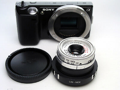 Triplet LOMO T-43 4/40 lens adapted to Sony E-mount