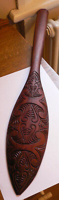 Vintage New Zealand Maori Carved Paddle