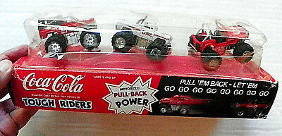 "Hartoy ""coca-Cola"" Tough Riders Three Motorized Pull-Back Power Vehicles"