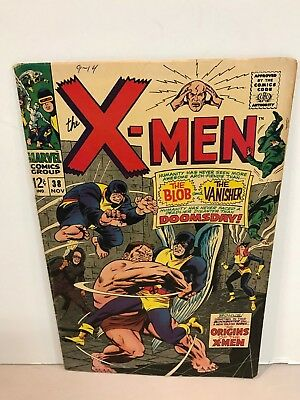 * Marvel Comics X-Men Issue 38 Origins Of The X-Men Blob The Vanisher
