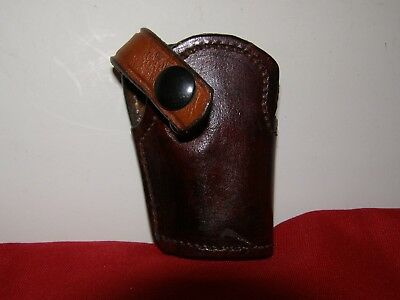 Brown Leather Clipon Holster Small