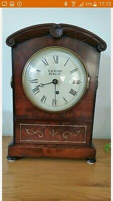 Antique Single fusee bracket clock